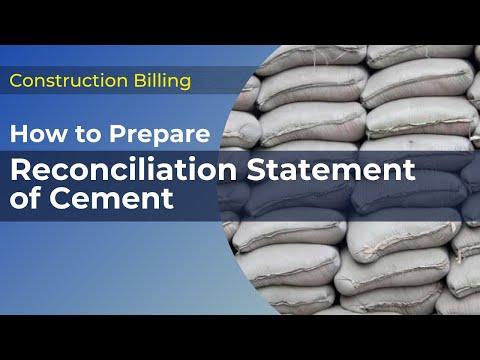 Cement Reconciliation As Per CPWD DSR