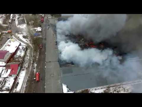 Страшный пожар в Иванове видео с квадрокоптера