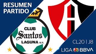 Resumen | Santos vs Atlas | Jornada 8 - CL 2020 | Liga BBVA MX