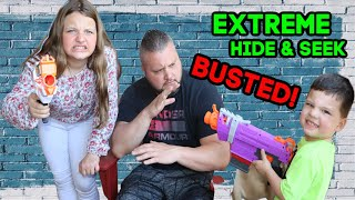 FAMILY FUN EXTREME HIDE and SEEK!  STUCK AT HOME Challenges for Families!