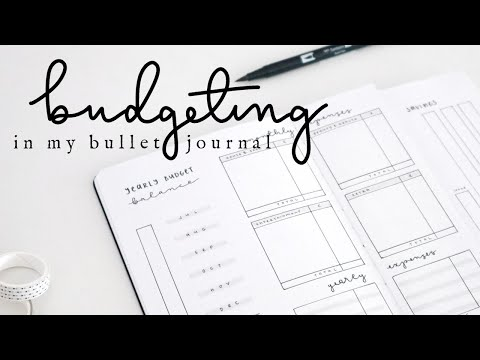 How I Budget In My Bullet Journal | Yearly and Monthly Finances, Budget Balance, Savings Tracker...