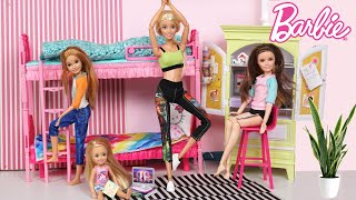 Barbie Family Home School Morning Routine - Titi Toys Dolls