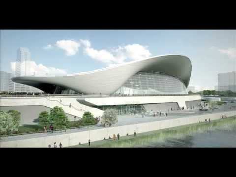 Awesome Projects  Aquatic Centre by Zaha Hadid London