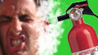 Fire Extinguisher Prank on Tanning Guido
