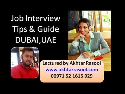Dubai Interview Tips and Guide by Akhtar Rasool, www akhtarrasool com