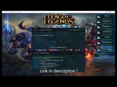 League Of Legends Riot Points Generator 2017 May