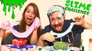 slime challenge en couple reussir a 100 du slime colle epic