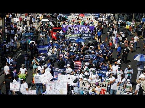 شاهد | الآلاف يتظاهرون في السلفادور ضدّ -إمبراطور السلفادور- بو كيلة  - 10:54-2021 / 10 / 18