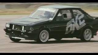 DRAG RACE Fast Ford XR3 Antilag Launch Mk3 Escort S1 RS TURBO @ Bruntingthorpe
