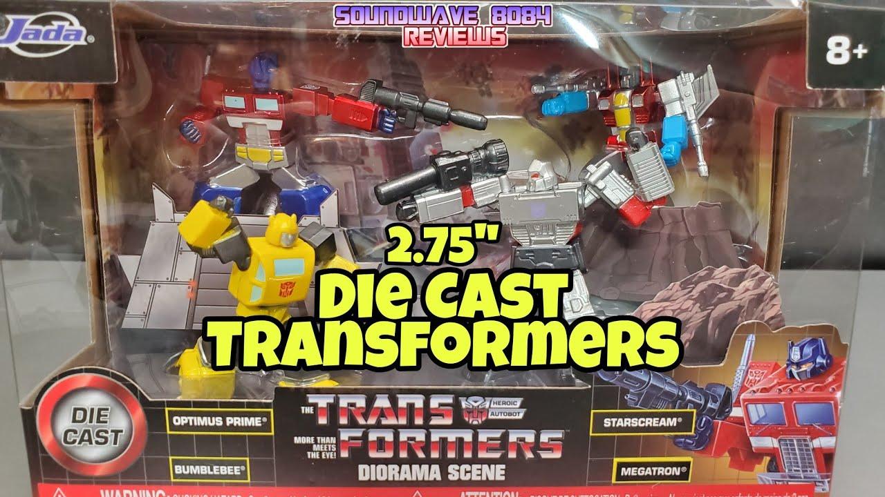 Jada Toys Die Cast G1 Transformers Diorama Scene Metalfigs by Soundwave 8084