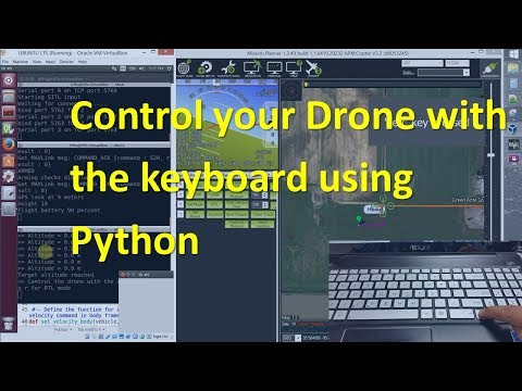 How to control a Drone with the Keyboard using Python