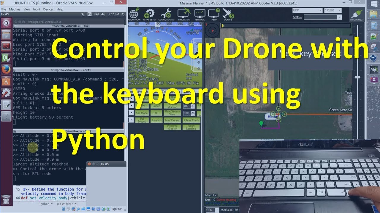 How to Control a Drone with the Keyboard using Python and Dronekit