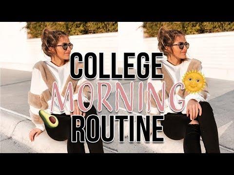 COLLEGE MORNING ROUTINE 2018 at NC State University   Natalie Barbu
