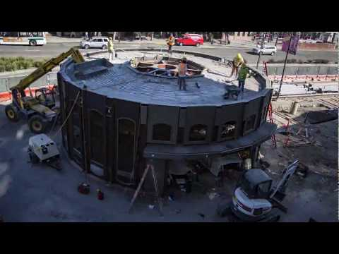 Downtown Berkeley Station Canopy Time Lapse