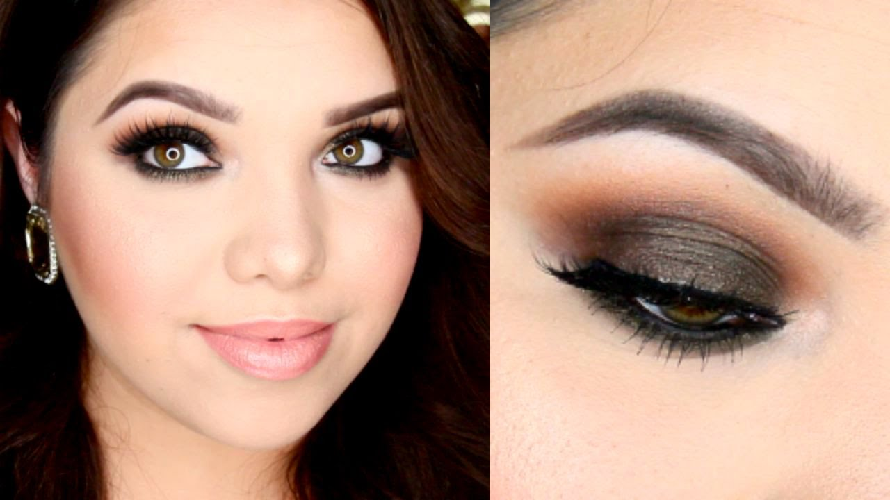 olive smokey eye makeup tutorial