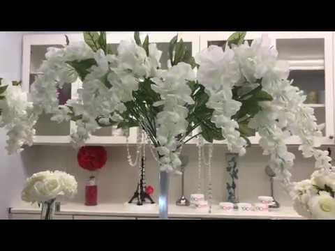 Centro de mesa para boda 2018 wc001 youtube - Centros de boda ...