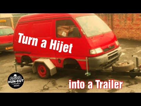 Convert a Daihatsu Hijet into a Camper trailer (slideshow)