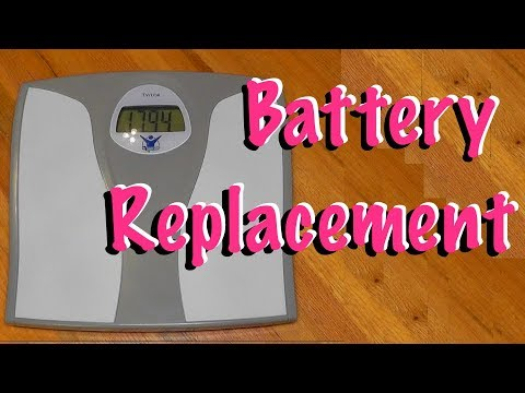 How to replace the batteries on a bathroom scale easy ...