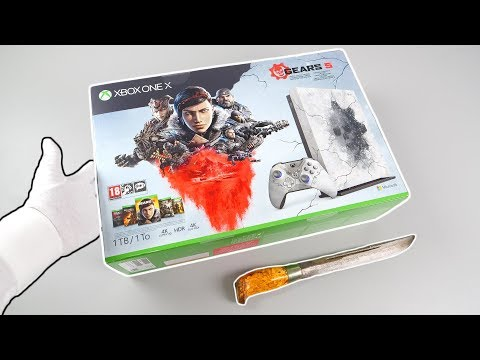 """Best Xbox One X Console? Unboxing """"GEARS 5"""" Limited Edition"""