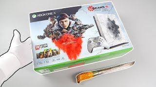 "Best Xbox One X Console? Unboxing ""GEARS 5"" Limited Edition Video"