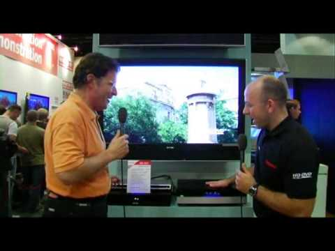 Toshiba's new HD-DVD player in action! (What Hifi Stuff S...