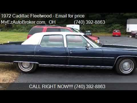 1972 cadillac fleetwood for sale in mount vernon oh 43050. Black Bedroom Furniture Sets. Home Design Ideas