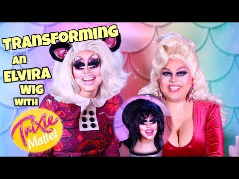 TRANSFORMING AN ELVIRA WIG WITH TRIXIE MATTEL | JAYMES MANSFIELD
