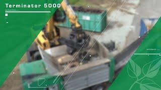 Komptech Terminator with XXF shredding unit shredding tires