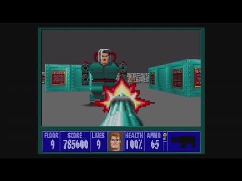 Wolfenstein 3D (Xbox 360) Episode 3, floor 9: Blazkowicz vs. Mecha Hitler