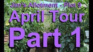 Jim's Allotment - Plot 9 - April Tour Part 1 - Planting Kale, Onions, Sunflowers and Asaragus
