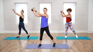 45-Minute Cardio and Toning Workout With Weights