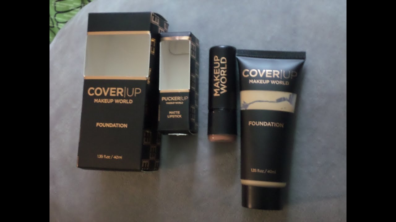 Makeup World Cover Up Foundation + Pucker Up Matte Lipstick