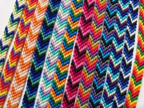 how to make the chevron friendship bracelet part 1 ll