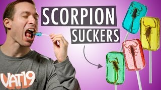 Lollipops with Real Scorpions Inside!