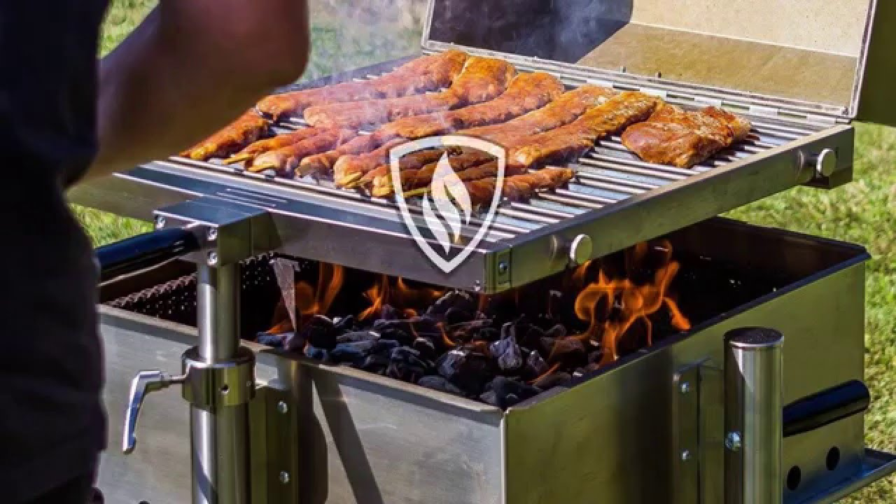gesundes grillen mit dem gmo grillrost grill manufaktur ostalb youtube. Black Bedroom Furniture Sets. Home Design Ideas