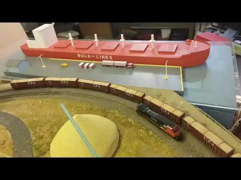 Bulk freighter , starting ships cranes