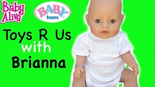 BABY ALIVE Toys R Us & Secrets + New Outfit For Baby Born Ben!