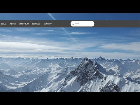 Animated html search box Your Videos