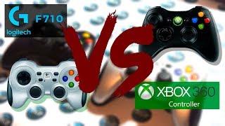 геймпад Logitech F710 vs Геймпад Microsoft Xbox 360. Обзор и сравнение