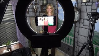"""GEEKOTO 18"""" Ring Light for photography - videography - REVIEW"""