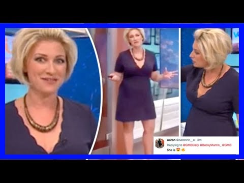 Good morning britain weather woman sparks frenzy in busty minidress as she replaces laura