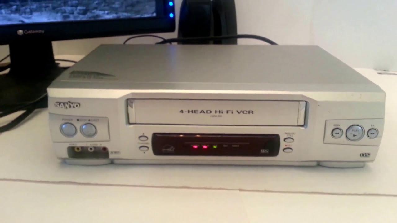 sanyo vwm 800 vhs vcr hifi stereo tv guardian tested ok condition rh youtube com Vwm X Sanyo Vwm 710