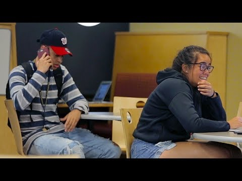 Embarrassing Phone Calls in the Library (Part 4) PRANK