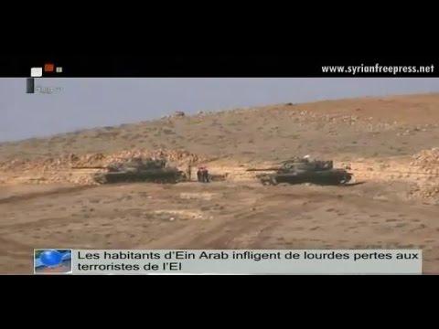Journal de Syrie 1/12/2014, Les habitants d'Ein Arab infligent de lourdes pertes aux terroristes EI