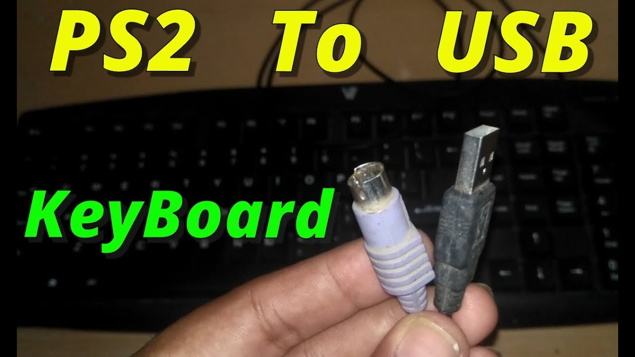 how to convert keyboard ps2 to usb 100 working 2018  [ 1280 x 720 Pixel ]