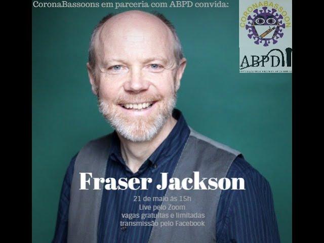 Live com o professor Fraser Jackson