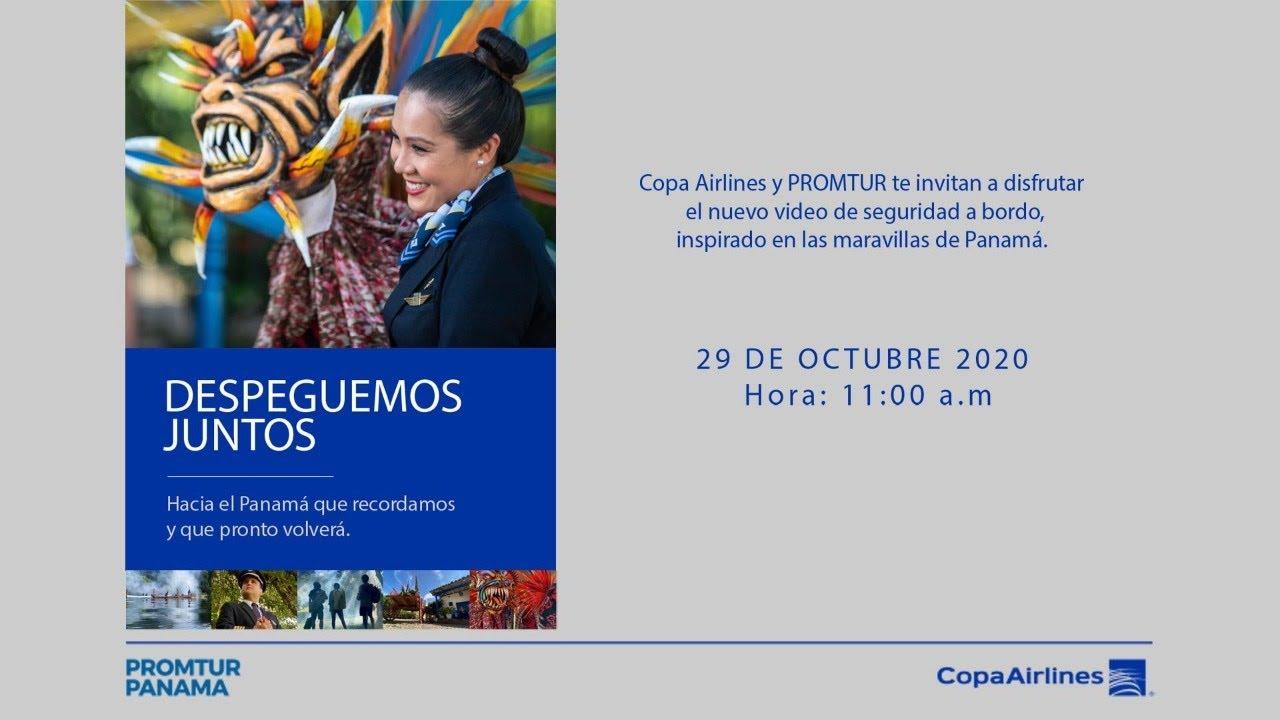 Copa Airlines y Promtur PTY presentan video de seguridad, inspirado en las maravillas de Panamá