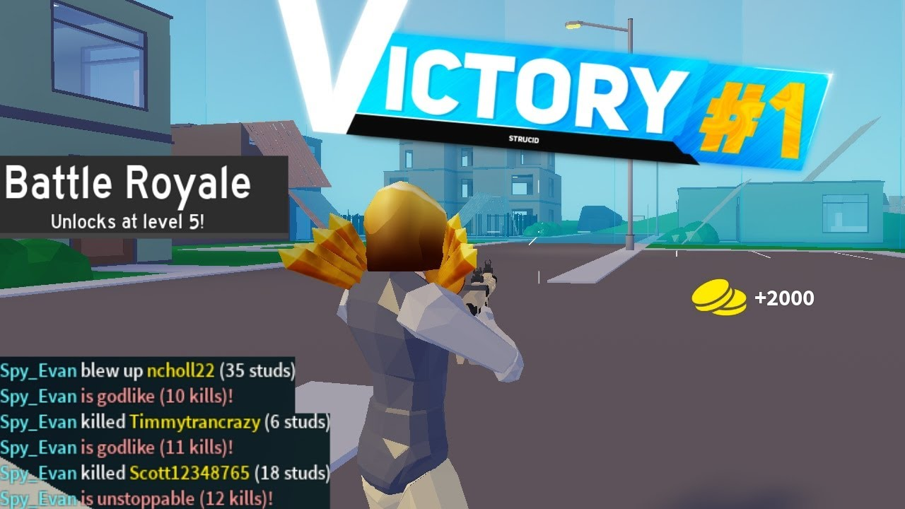 I Won A Game Of Strucid Battle Royale! - YouTube