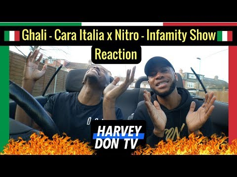 Ghali - Cara Italia x Nitro - Infamity Show Reaction Harvey Don TV @raymanbeats