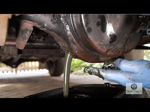 Replacing diff and transfer box oils - The Fine Art of Land Rover  Maintenance